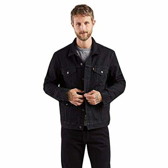 Levi's Mens Trucker Jacket Berkman/Black XL $90